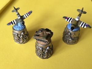 RAF Spitfire Planes & Army Tank Painted Pewter D Day Thimbles By Warwick Models | eBay