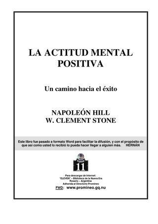 La actitud mental positiva - Napoleón Hill