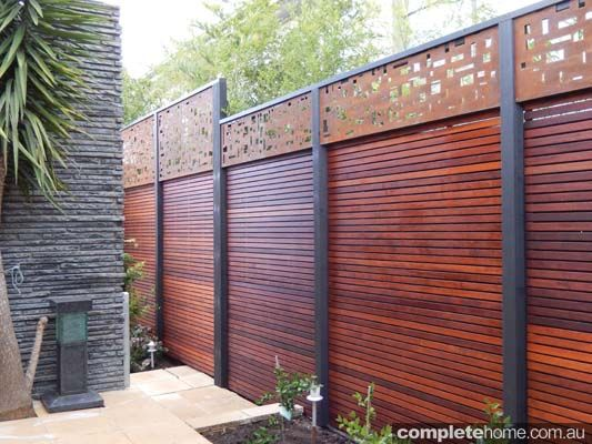 Cedar artistic designs for privacy screens with metal for Outdoor metal privacy screens