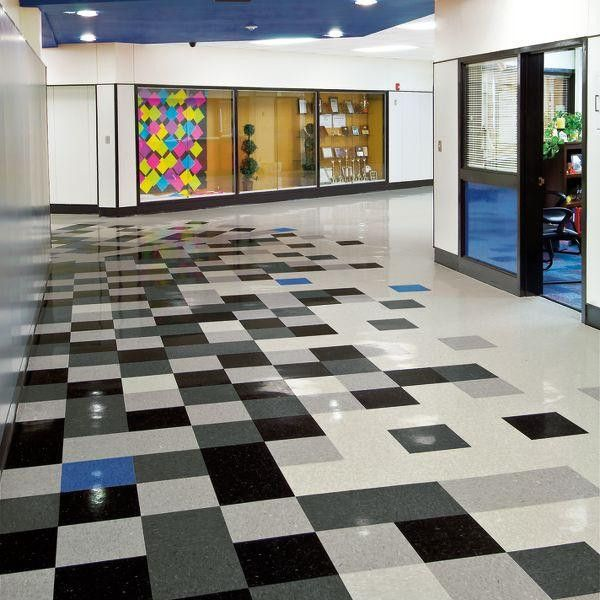 """Armstrong 51910 Classic Black is a VCT Tile in Standard Excelon Imperial Texture collection. Size: 12"""" x 12"""" x 1/8"""", 45 square feet per carton (45 pieces / ctn). Commercial grade vinyl floor tile. If your looking to create a white and black checkerboard pattern we recommend using the Classic White #51911."""