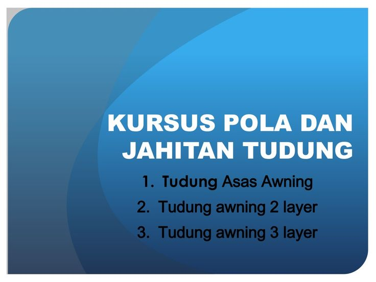 Pola dan jahitan tudung awning by Siti Fatimah Dzulkifli via slideshare