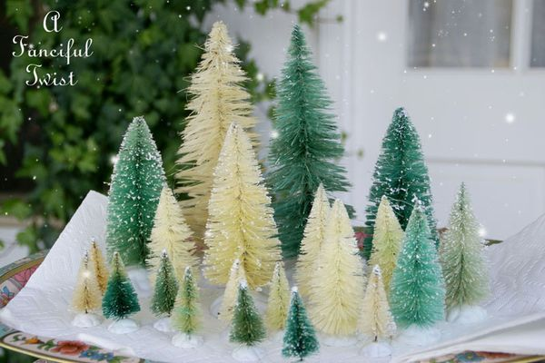 Step-by-step tutorial for taking color out of green bottle brush trees, with beautiful results.