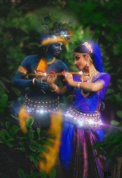 Radhakrishna - Krishna`s dark blue colour!!!