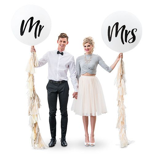 Party in style with these energetic jumbo sized 36-inch balloons with pastel tissue paper tassels..make a big statement at your wedding, party or anniversary.