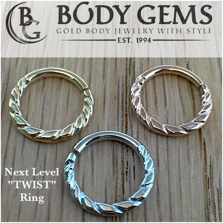 Here is the newest addition to the #Bodygems #goldbodyjewelry Next Level rings. #safepiercing #legitbodyjewelry #piercings #septumpiercing  #septumpiercing #bodyjewelry #morebodygems