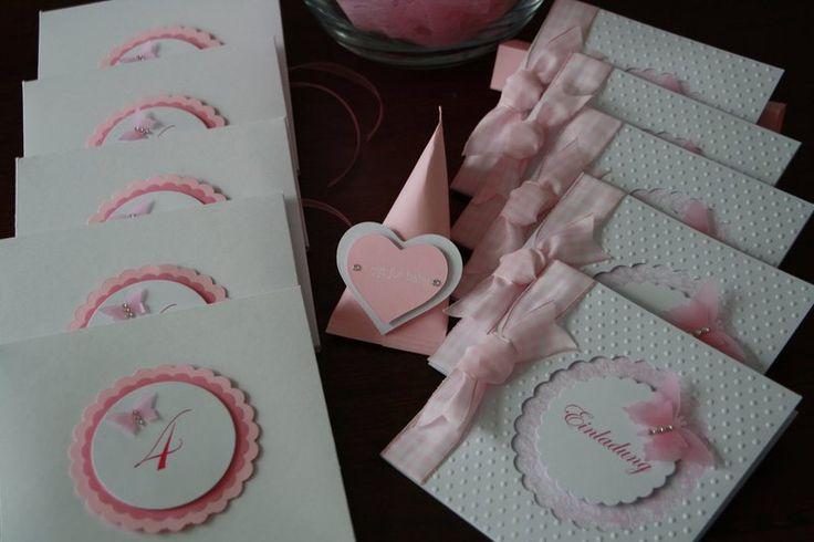 Einladungskarte Schmetterling Geburtstag von Eva's CardArt auf DaWanda.com