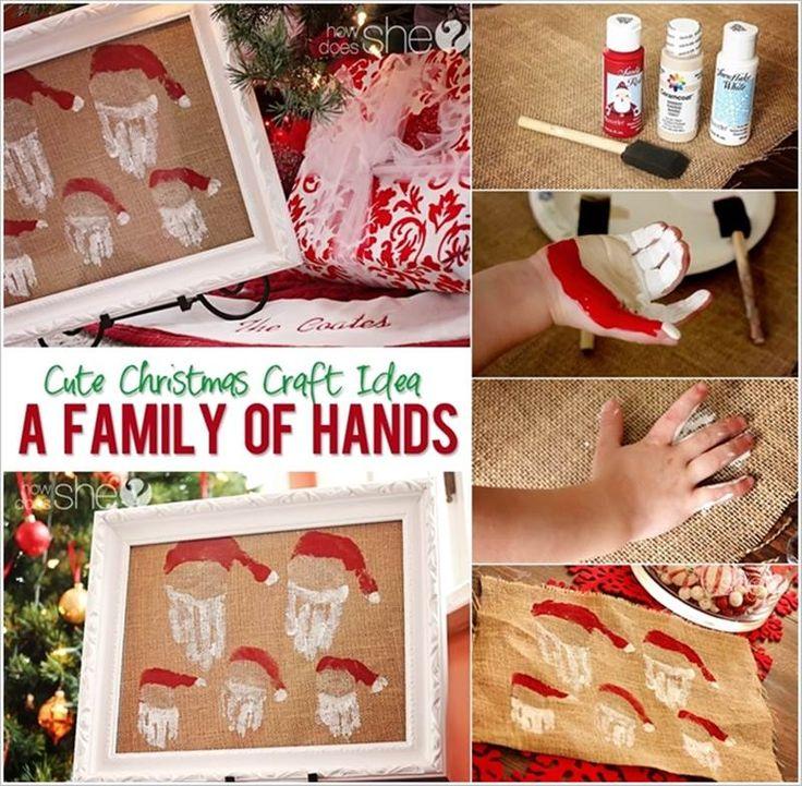 DIY Family of Handprint Santas