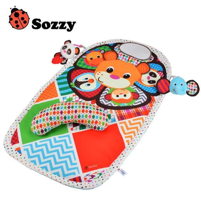 Sozzy Toys Children Learning & education Play Mats Baby Sleep Mat Activity Crawling Bolster Animals Game Blanket pillow Gym Mats