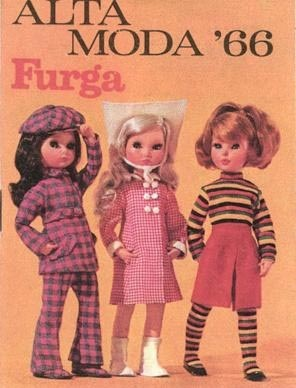 1966 ~ I have quite a few of vintage Furga dolls. I don't think they are the Alta Moda series which is a very expensive line.