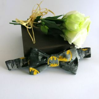 Batty yellow and black bowtie for those dark knights.
