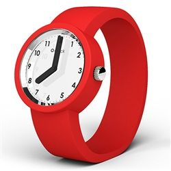 Mirror with Numbers O clock watch with Red strap. It has a reflective face and numbers - so we called it the Mirror with Numbers O clock watch! Choose from 29 strap colours. The Mirror with Numbers O clock watches have black hands and a high-quality reflective face just like a normal mirror. Reflect upon the time with Fullspot. GBP£35 #Watches