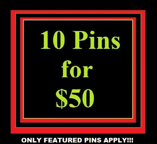 Select 10 Pins for 50................. FREE by DesignsByDonnyLLC