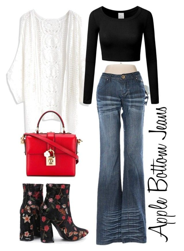 """""""How to style apple bottom jeans"""" by airsunshine on Polyvore featuring Apple Bottoms, Chicwish and Dolce&Gabbana"""