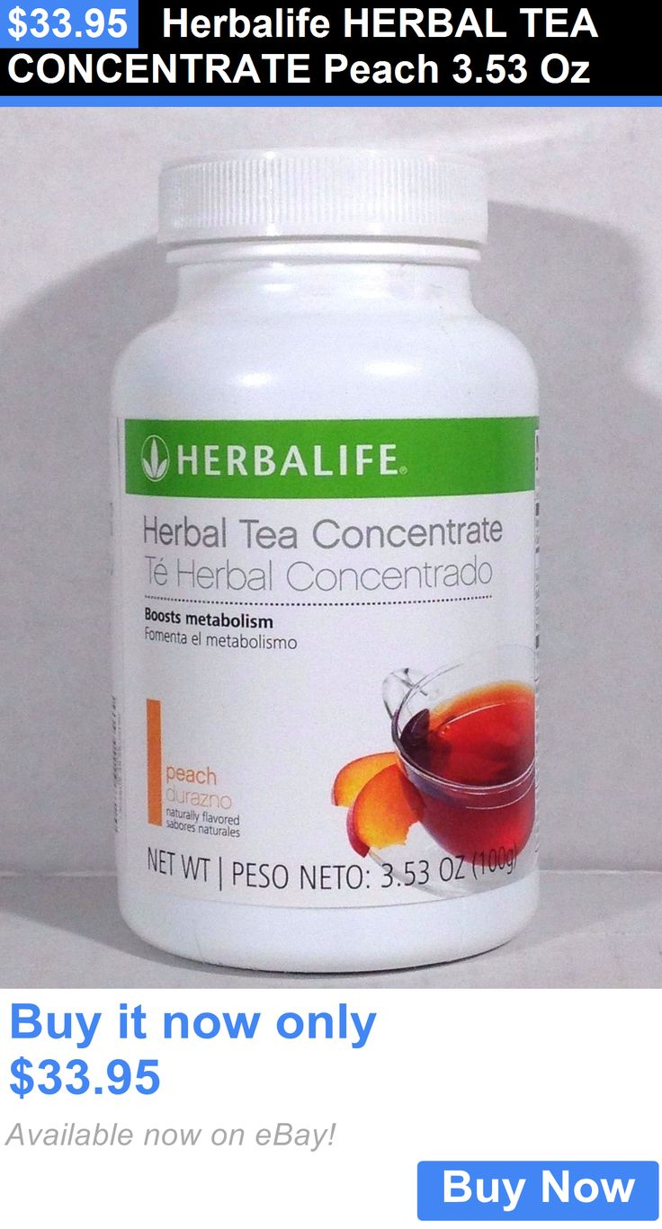 Meal Replacement Drinks: Herbalife Herbal Tea Concentrate Peach 3.53 Oz BUY IT NOW ONLY: $33.95
