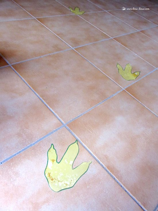 Dino footprints for dinosaur party