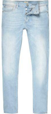 River Island Mens Light blue wash Sid skinny jeans