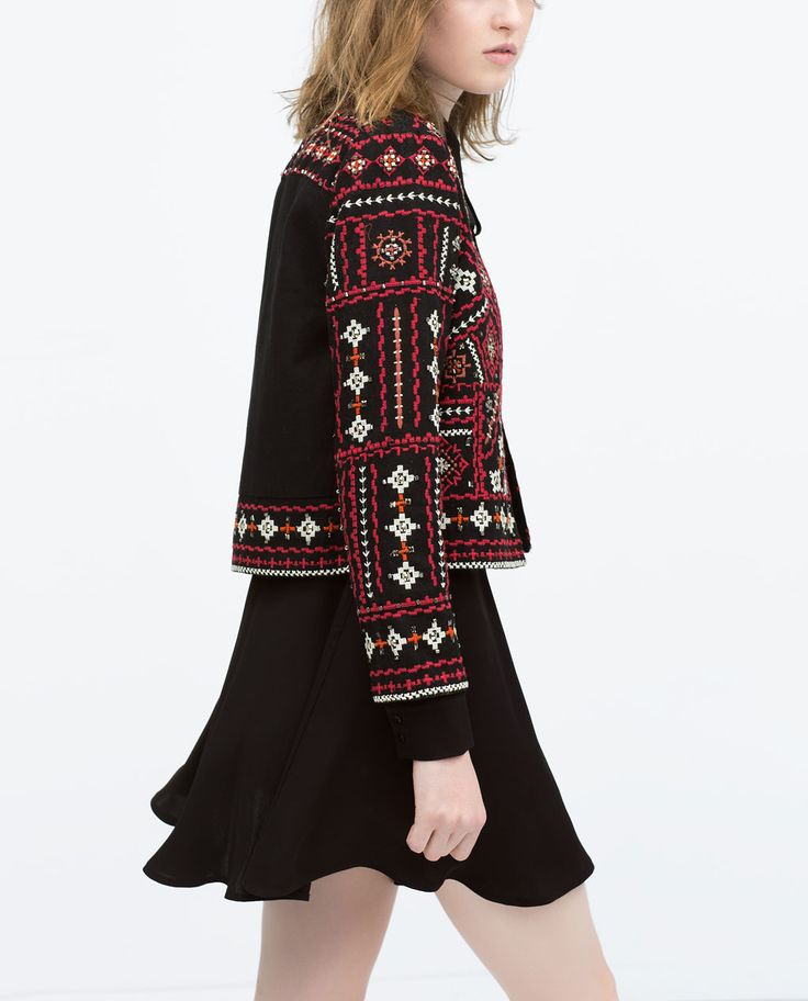 ETHNIC EMBROIDERED JACKET from Zara