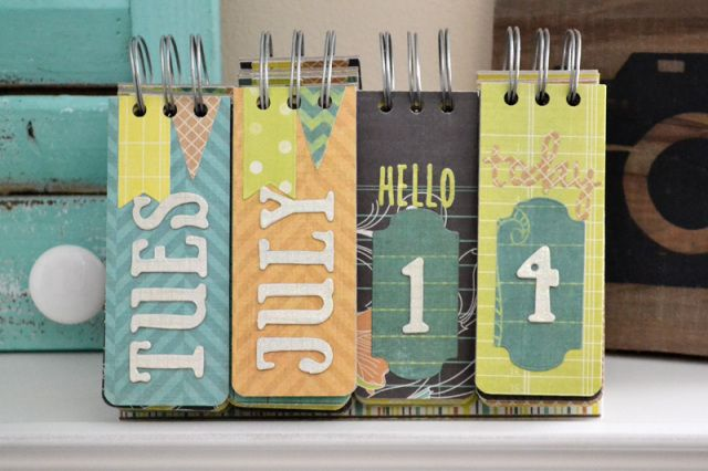 Calender - *We R* Perpetual Calendar - Scrapbook.com - Made with We R Memory Keepers supplies.