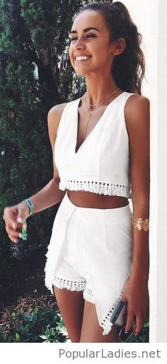 Sweet white summer suit  #RePin by Dostinja - WTF IS FASHION featuring my thoughts, inspirations & personal style -> http://www.wtfisfashion.com/