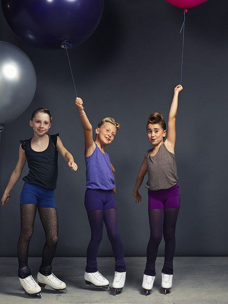 Lovely figure skating pairs of shorts with small glittered stylish looked sequined pockets in fashioned colors.