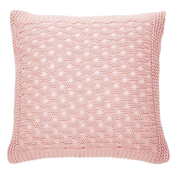 coussin tricot rose bonbon coussin pinterest. Black Bedroom Furniture Sets. Home Design Ideas