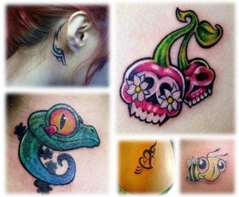 Cute Small Tattoos - tribal mark behind the ear