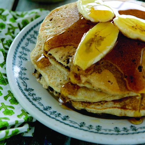 Whole-Grain Banana–Chocolate Chip Pancakes | Recipe | Pancakes ...