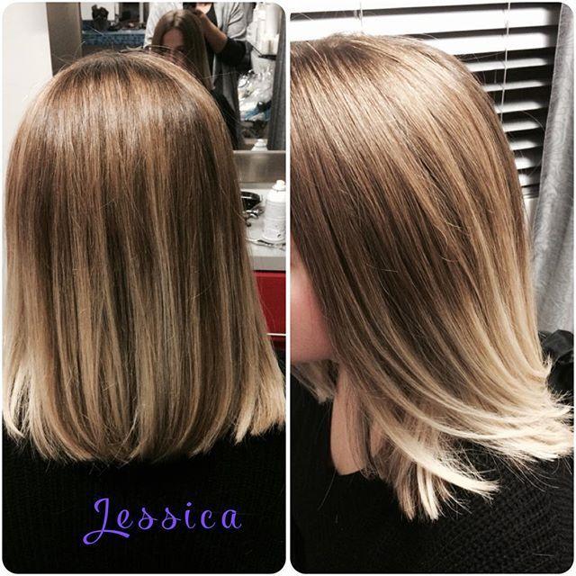 Ombré blond glacé #ombré#hairstyle#hairstyler