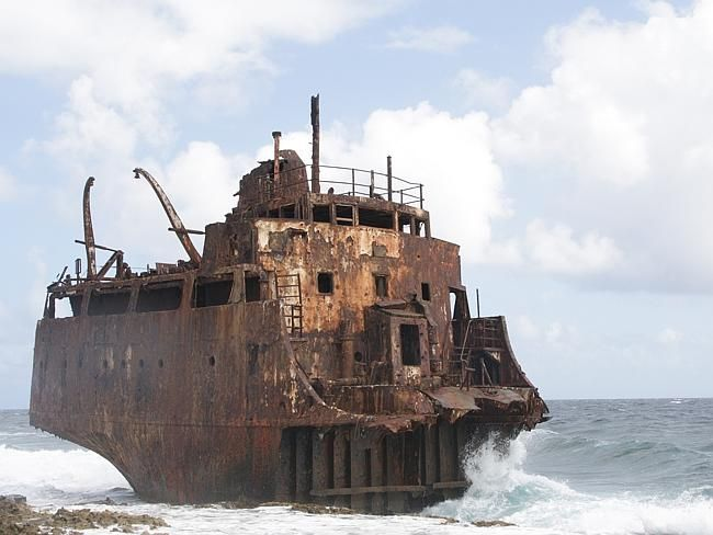 Abandoned. LYING in paradise sits a ghost island, completely uninhabited and marked by a sordid history.  Klein Curacao in the Caribbean Sea is just 1.7 square kilometres in size, completely isolated and a two hour boat ride from Curacao. Rusting and crumbling shipwrecks dot the southern coastline. Picture: Wouter Kiel.