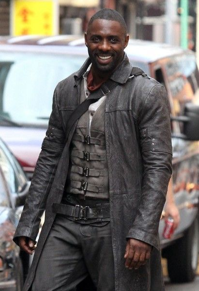 Stars are spotted filming scenes for 'The Dark Tower' filming in New York City, New York on July 7, 2016.  Pictured: Idris Elba