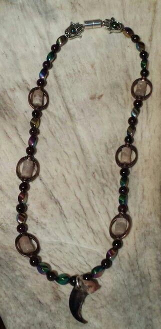 Garnets, Moonstone  & Rainbow Magnitite with Hematite