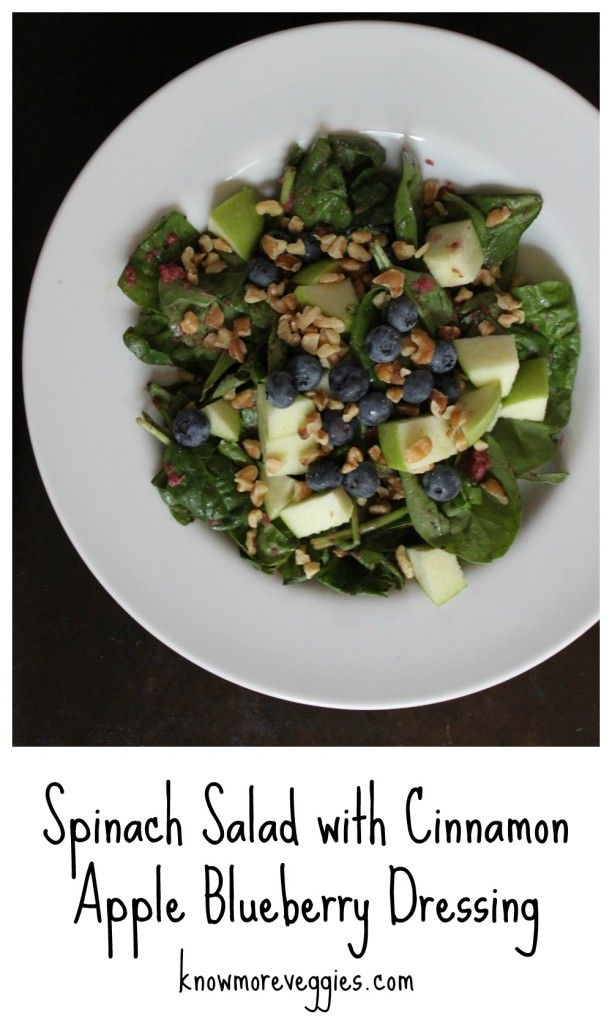 Spinach Waldorf Salad With Cinnamon-Apple Dressing Recipe — Dishmaps