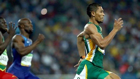 South Africa's Wayde Van Niekerk shatters the world record in men's 400m