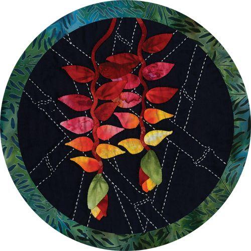 Tropical Flowers Sashiko Patterns