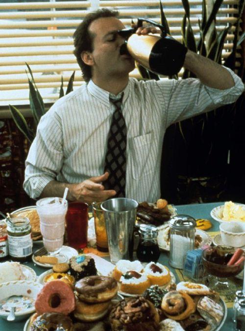 Bill Murray Drinking Coffee From Pot