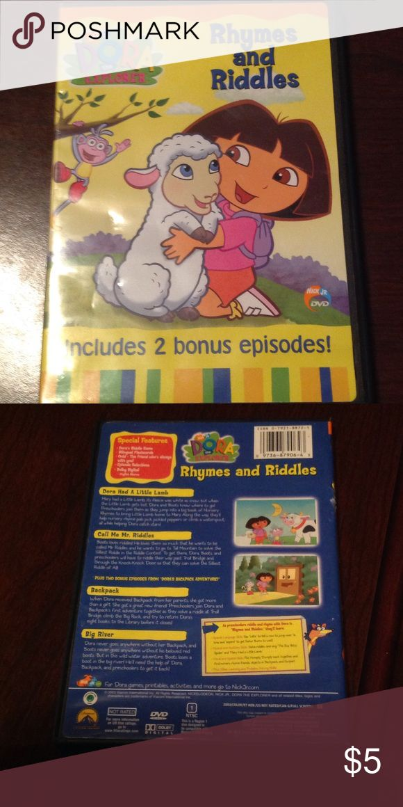 Kids DVDs Dora rhymes and riddles dvd Other