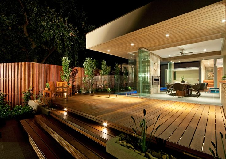 Nice mixture of timber decking - I like the flow of this house
