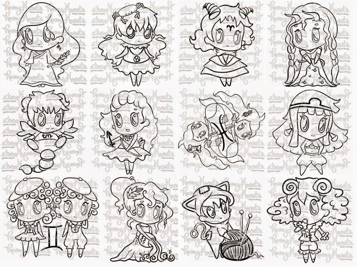 Rosey Hearts: The Chibi Zodiac