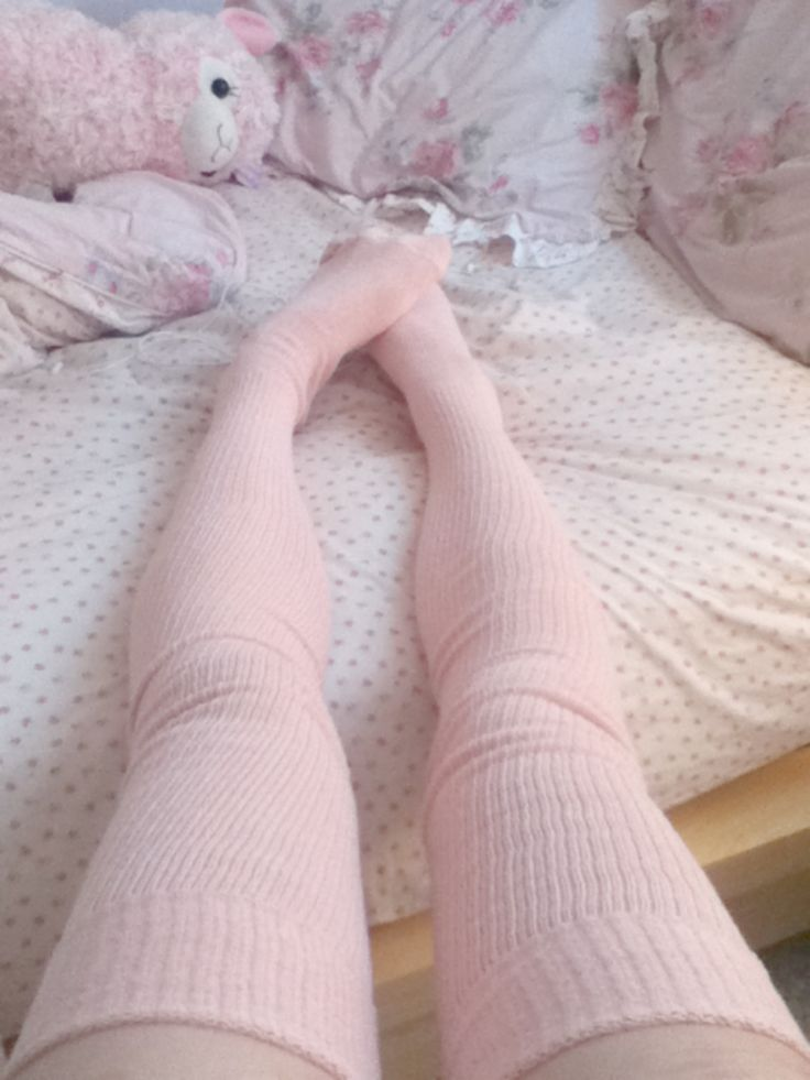 pink thigh highs