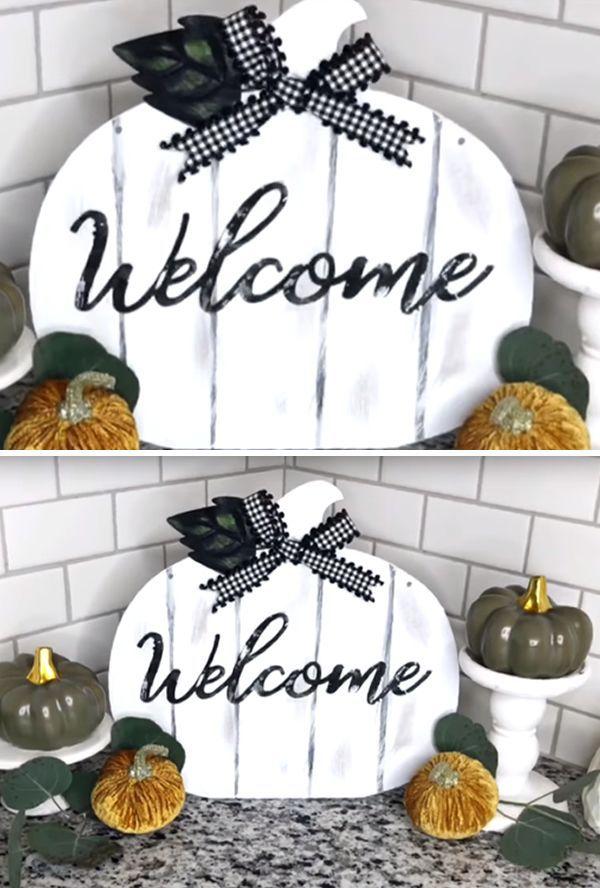 Décor d'automne Farmhouse – Idées de décoration de bricolage Dollar Store Farmhouse & Hacks – Décoration d'automne sur un budget