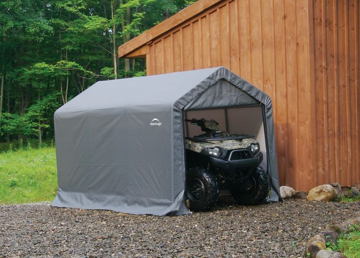 Heavy Duty Portable Garage Temporary Motorcycle ATV Bike Shed Storage  Shelter