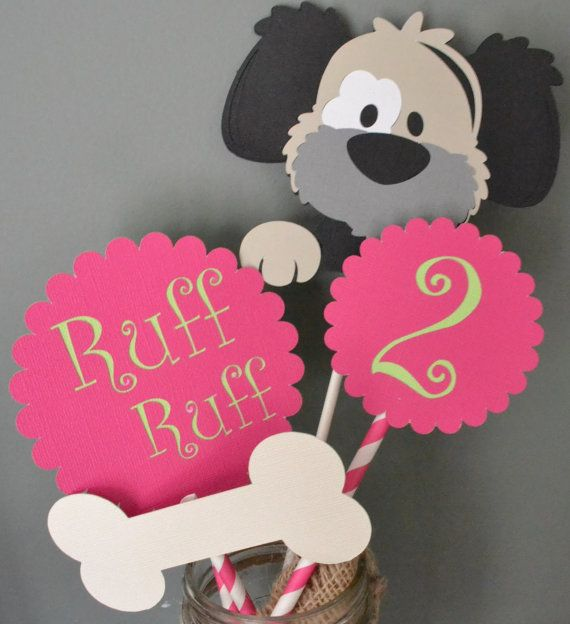 Dog Birthday Party Centerpiece Puppy Party by CraftedOccasions