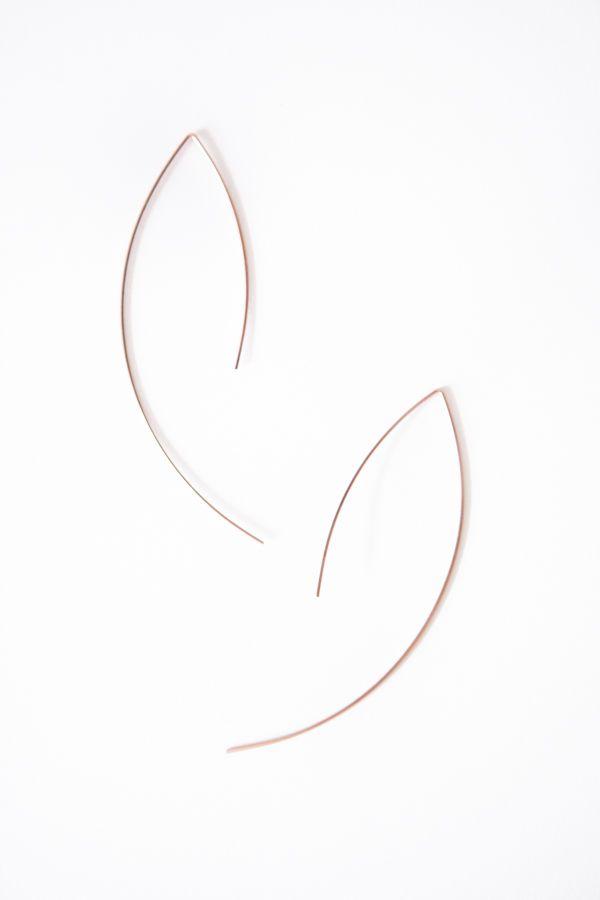 By Boe Rosegod Threader Earrings - @ Parc Boutique