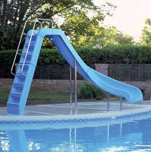 The Wild Ride Pool Slide is a great all-ages pool if you've got youngsters just becoming acclimated with the pool. http://www.intheswim.com/Pool-Accessories/Pool-Slides-for-In-Ground-Pools/Wild-Ride-Pool-Slide/#