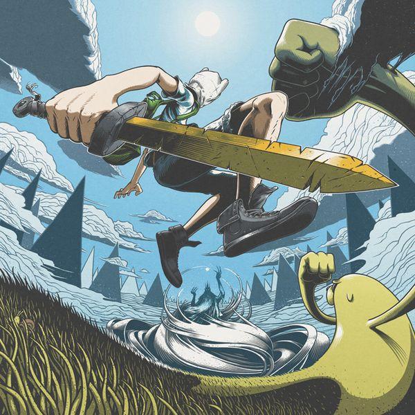 Varinhas são para os fracos: ilustração incrível de The Adventure Time