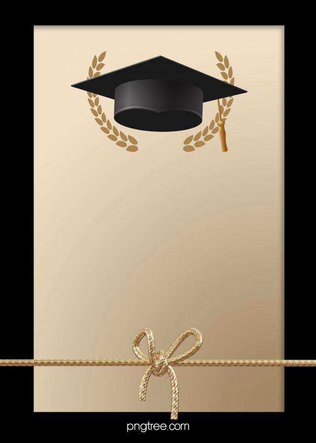 Black And Golden Happy Graduation Hat Background Graduation Hat Happy Graduation Graduation Wallpaper