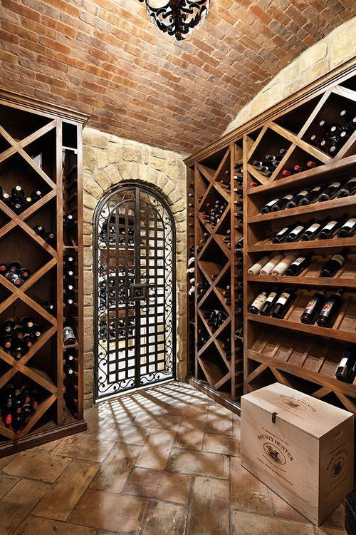 I don't care for wine but how cool would it be to have a wine cellar like this? #WineRoom #WineCellar