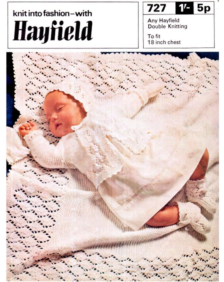 Vintage Hayfield 727 Baby Lacy Layette by TheAtticofKitsch on Etsy