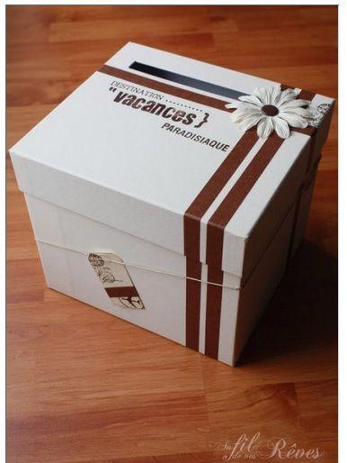 Urne voyage # Wedding card box