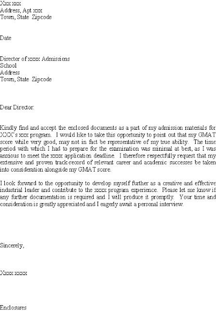 good cover letter explaining low gmat scores - Best Resume Cover Letter